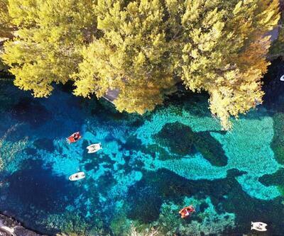Doğal akvaryumu andıran Gökpınar Gölü hayran bırakıyor
