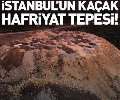 Arnavutköy'de kaçak hafriyat tepecikleri oluştu