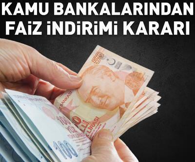 Kamu bankalarından kredi faizi indirimi kararı