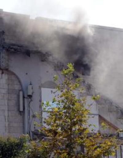 İnönü Stadı'nda yangın çıktı