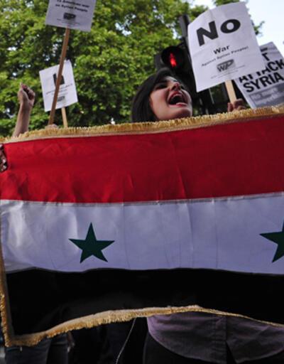 """Londra'da  """"savaşa dur"""" protestosu"""