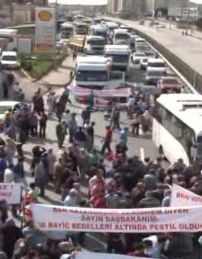 Şile-İstanbul yolunda 2-B protestosu