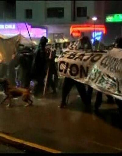 Şili'de madenciler polisle çatıştı