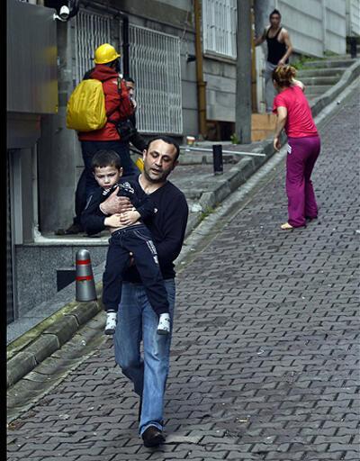 Evdeki çocuklar biber gazından etkilendi