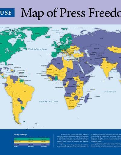 """Türkiye artık """"basını özgür olmayan ülkeler"""" listesinde"""