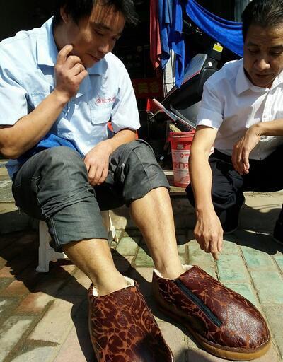 Fil hastası Çinli için dev ayakkabı