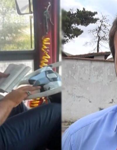 Otobüs kullanırken kitap okuyan şoför konuştu