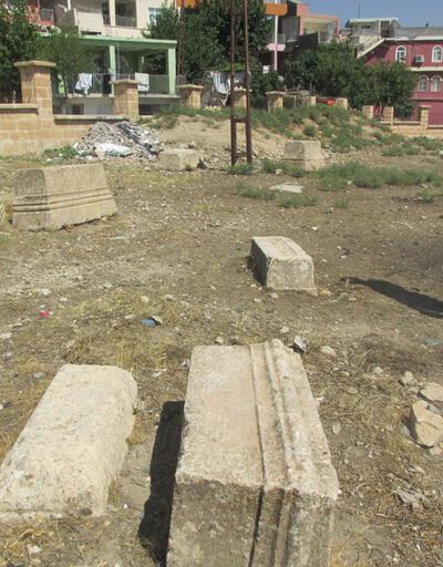 Protestan mezarlığına foseptik borusu