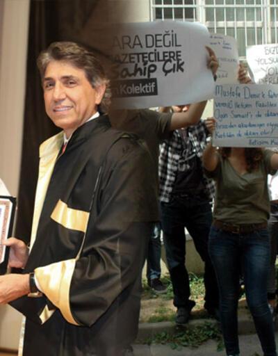 İstanbul İletişim öğrencileri Mustafa Demir'e fahri doktorayı protesto etti