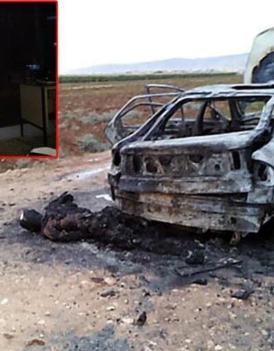 Kızıltepe'de yanan araçtaki kişi silahla öldürülmüş