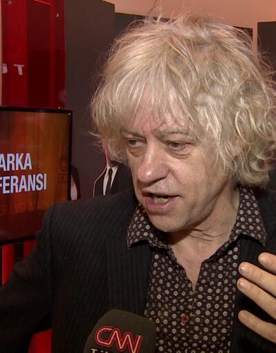 Bob Geldof ebolayla savaş projelerini CNN TÜRK'e anlattı