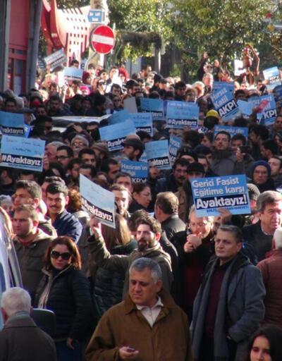 Kadıköy'de eğitim protestosu