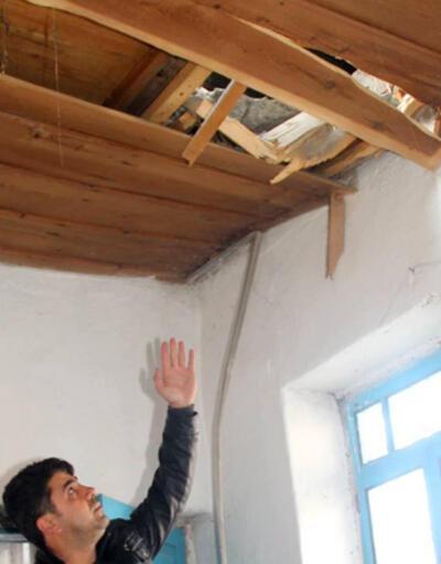 Erzurum'da gökten taş yağdı!