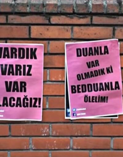 ''Lut kavmi'' afişlerine sokaktan cevap