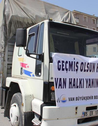 Van Büyükşehir Belediyesi, Hopa'ya yardım gönderdi