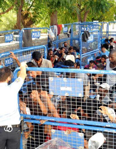 Bodrum'da göçmenlere kafes