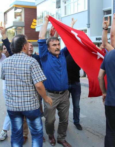 """Samsun'da """"Barış Bloku"""" yürüyüşünde gerginlik"""