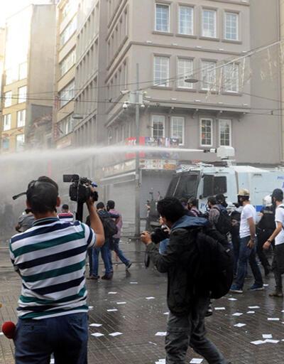 Galatasaray Meydanı'nda polis müdahalesi!