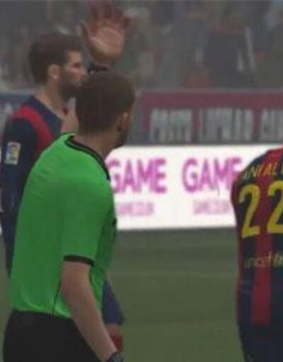 PES 2015`te lk Barcelona - Real Madrid Karlamas!