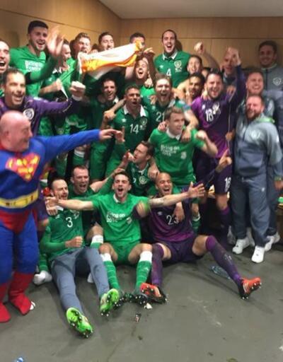Süpermen, İrlanda'yı bizzat gelip tebrik etti!