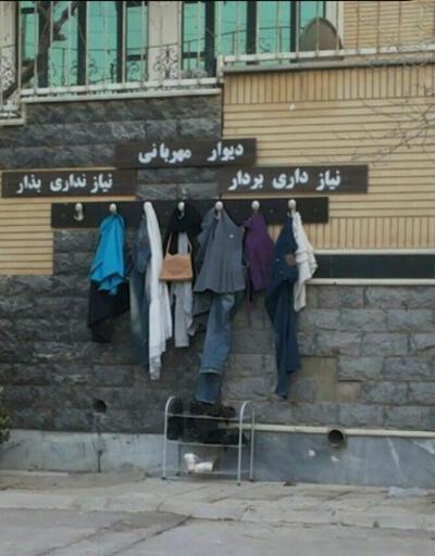 """İran'da evsizler için """"şefkat duvarları"""""""