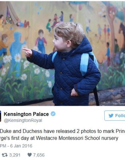 Prens George okula başladı!