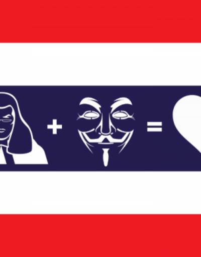 Anonymous, şimdi de Tayland'a yöneldi