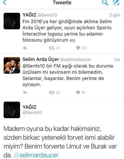 Selim Arda Üçer'den Football Manager açıklaması!
