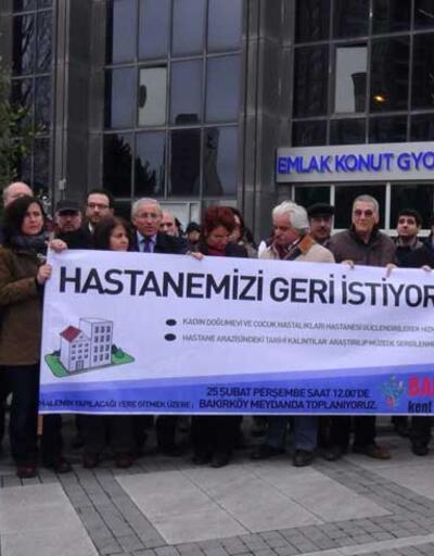 Bakırköy'de hastane eylemi.. İçeride ihale, dışarıda protesto