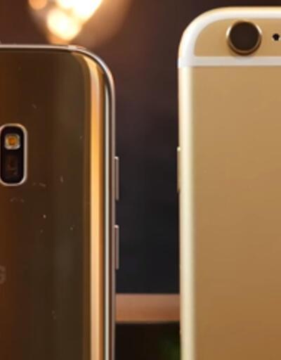 Galaxy S7 Edge vs iPhone 6s Plus... Düşürme testi