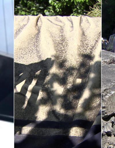 Anadolu Hisarı'na 2. Köprü'den kum yağıyor