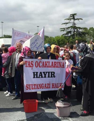 İstanbul'da taş ocakları protestosu