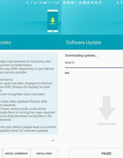Galaxy S7 için güvenlik güncelleştirmesi!
