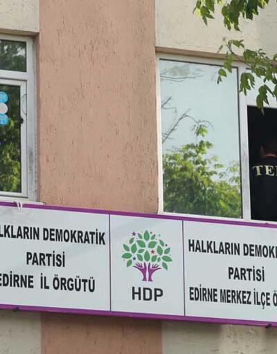 HDP Edirne İl Başkanlığı'nda arama