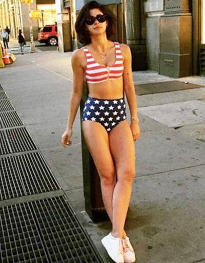 Nesrin Cavadzade bikinili pozu olay yarattı