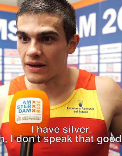 Şampiyon olduğunu röportaj sırasında öğrendi