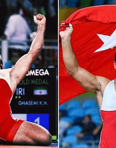 Taha Akgül'ün Rio'da altın madalya kazandığı anlar