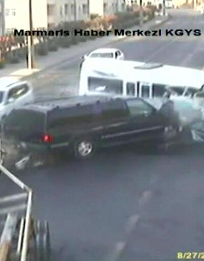 Marmaris'te mucize kurtuluş MOBESE kamerasında