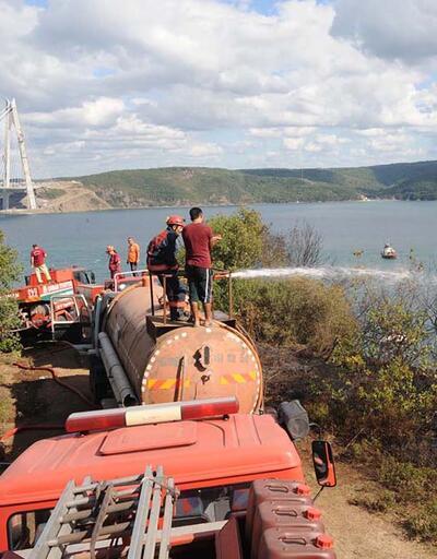 Yavuz Sultan Selim Köprüsü yakınında orman yangını