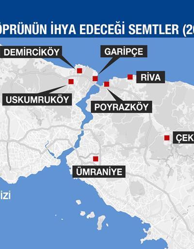 İstanbul'a 3. köprü hangi semtleri değerlendirecek?