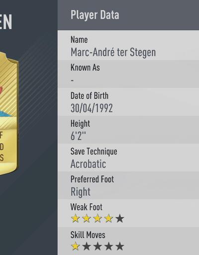 FIFA 17'nin en iyi 20 kalecisi