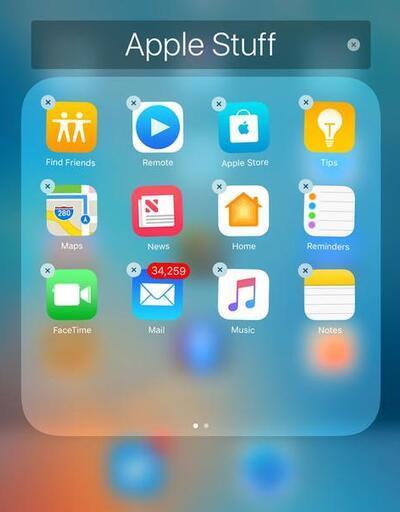 iOS 10'da açık var