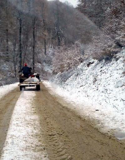 Kartepe'de kar kalınlığı 15 santime ulaştı
