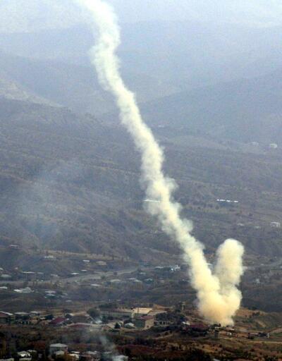 Şemdinli'de taciz ateşi açan PKK'lılara bomba yağdı