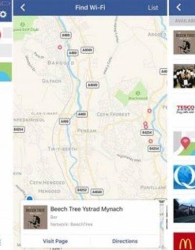 Facebook yakınlardaki ücretsiz Wifi ağlarını gösterecek