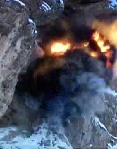Sığınağa tuzaklanan bomba imha edildi