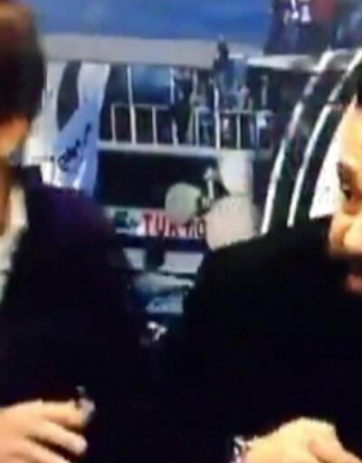 Patlama BJK TV canlı yayınına yansıdı