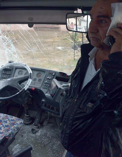 Otobüs şoförü direksiyon başında bayıldı