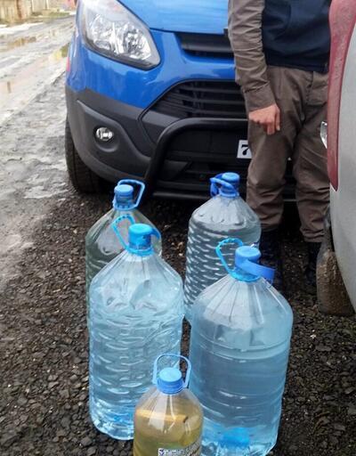 Villada 200 litre sahte içki ele geçti