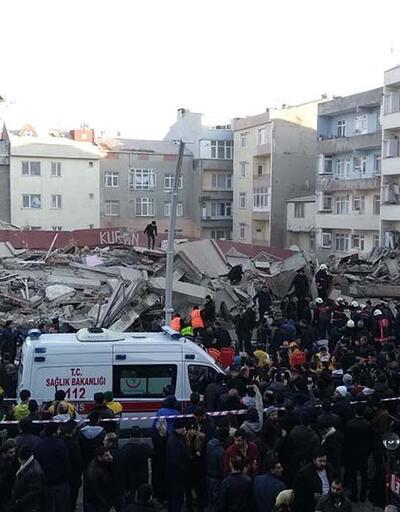 Son Dakika Zeytinburnu'nda bina çöktü